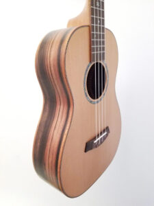 Ohana Baritone Ukulele Cedar and Ebony BK-50ME Left Side