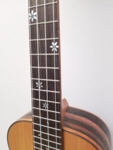 Ohana Tenor Ukulele Cedar and Ebony TK-50ME Inlays