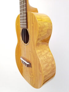 Ohana Tenor Ukulele Willow Wood TK-15WG Angled Right