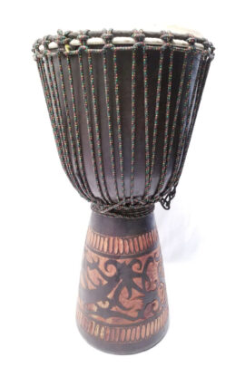 Sageman 13X28 Line Carved Djembe with Dark Finish