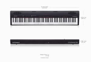 Roland GO:PIANO88 Keyboard Dimenstions