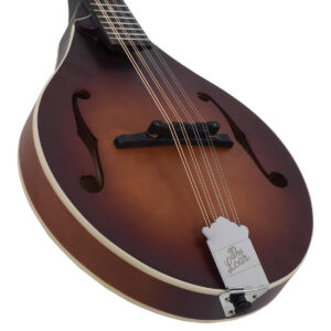 The Loar A-Style Mandolin LM-110-BRB Angled Bottom View
