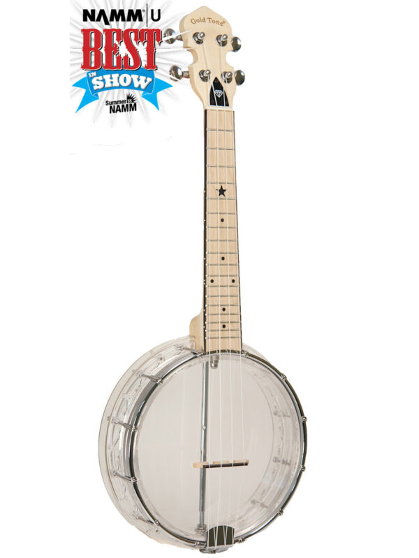 Goldtone Little Gem Banjolele Clear Color