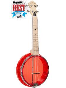 Goldtone Little Gem Banjolele Red Color Head