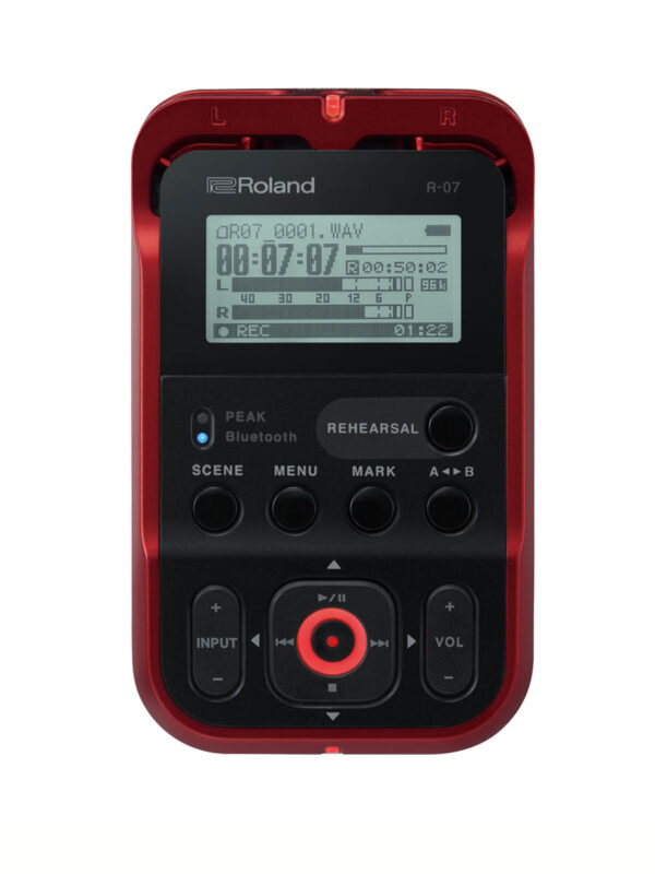 Roland Handheld Recorder R-07 Red Main View