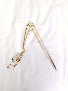 Bob Longmire's Dual Harmonica Hold Side View