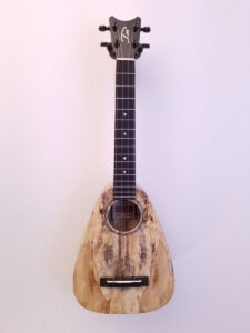 Romero Creations Tiny Tenor Spalted Mango S#20075 Full Front View
