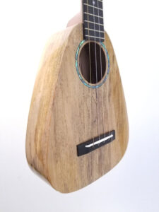 Romero Creations Tiny Tenor Uke - Spalted Maple Angled View