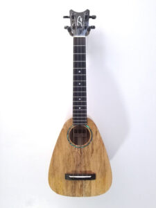 Romero Creations Tiny Tenor Uke - Spalted Maple Full Front View