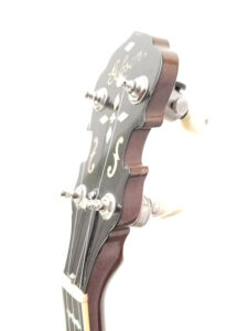 1970's Vintage Gibson RB-250 Banjo Angled View Headstock