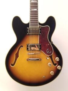 Used Epiphone Sheraton Pro II Electric Guitar Front Closeup View