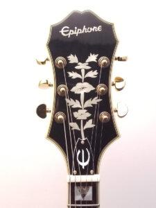 Used Epiphone Sheraton Pro II Electric Guitar Headstock
