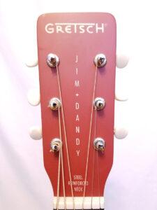 Used Gretsch Jim Dandy Acoustic Guitar Headstock
