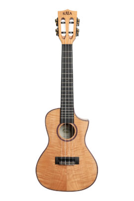 Kala Solid Flame Maple Concert Uke Cutaway KA-ASFM-C-C Front View