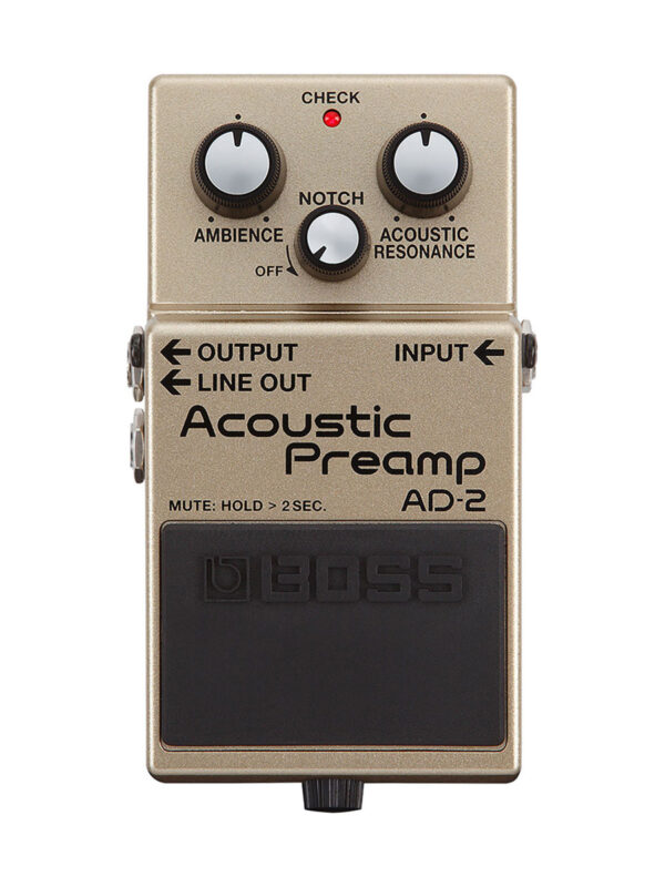 Boss AD-2 Acoustic Preamp Pedal Top View