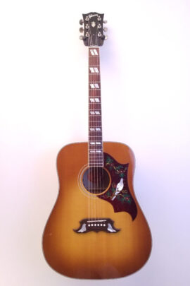 Gibson Dove Quilt Dreadnought Guitar Full Front View