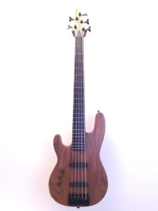 Used Carvin Left Handed 5-String Bass Full Front View