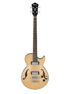 Ibanez Electric Hollow Body Bass - AGB200 Natural Finish Front View