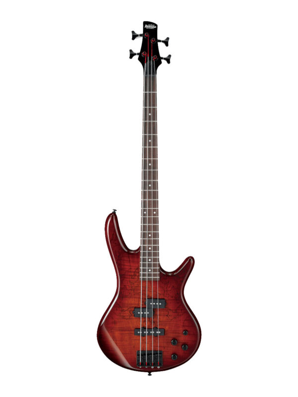 Ibanez GSR200SMCNB Electric Bass Charcoal Brown Burst Front View