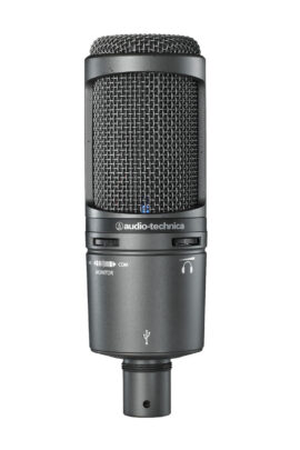 Audio-Technica AT2020USB+ USB Cardiod Microphone Front View
