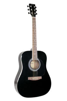 Johnson Acoustic Guitar - White JG-620-B Black