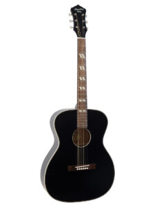 Recording King ROS-7-MBK Acoustic Guitar Black Front