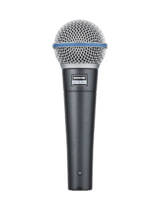 Shure BETA58A Dynamic Vocal Microphone Front View