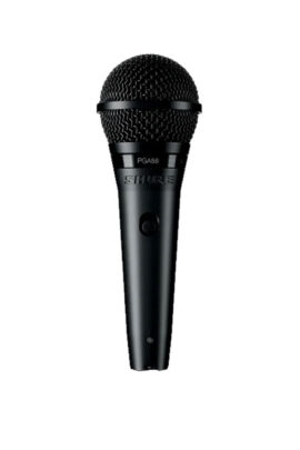 Shure PGA58 Cardiod Dynamic Vocal Microphone Front View