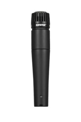 Shure SM57 Dynamic Instrument Microphone Front View