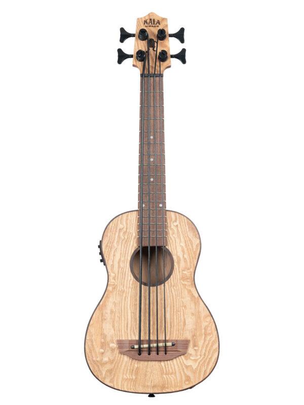 Kala U•BASS® Burled Ash Wood Fretted Front View